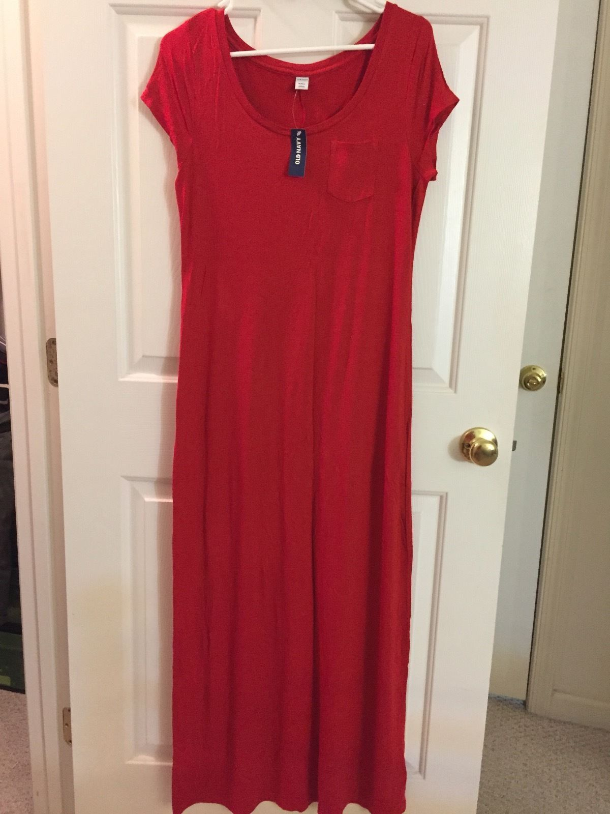 Cool NEW Old Navy Short Sleeve Maxi Dress Red - Women\'s Size M 2017 ...