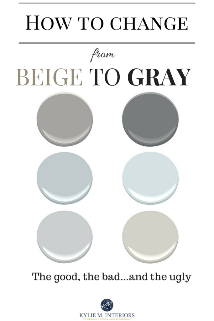 How To Change From Beige To Gray Greige Paint Swatches