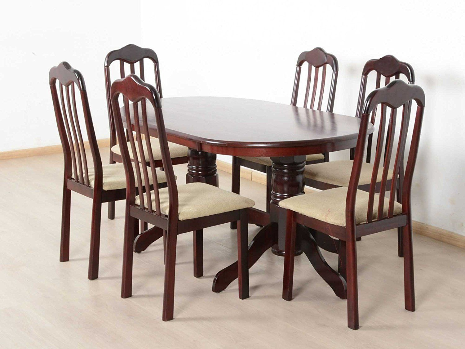 T2a Livez Six Seater Dining Table Set Oval Shaped Contemporary