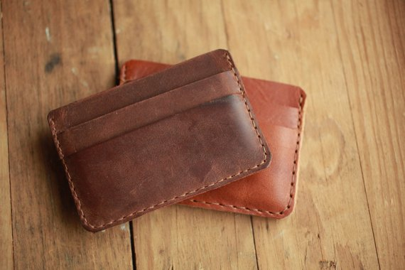 more photos 8a465 e12ff Leather Card Holder - Father's Day - Mens Leather Wallet, Card ...