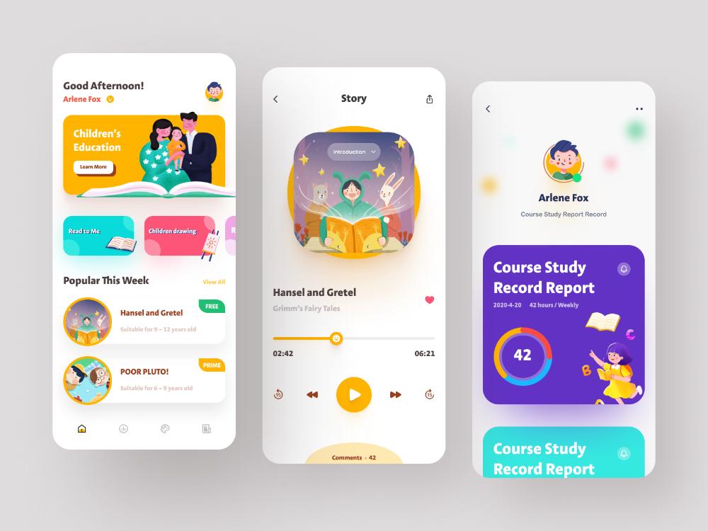 Child education App Design   Kids app design, App design, Educational apps for kids