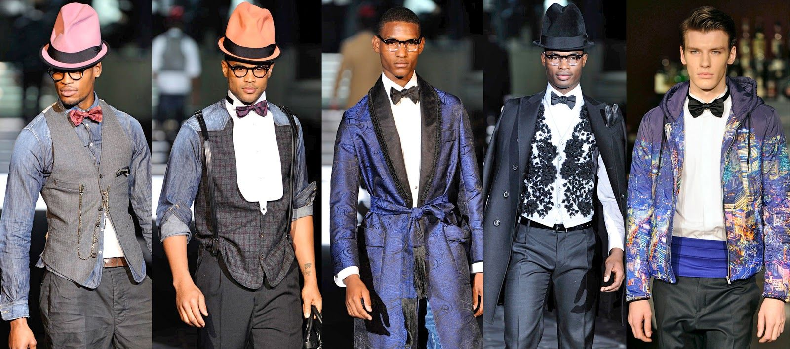 oneoffpinkribbon...: Bow ties rocking at Men's Milan Fashion Week