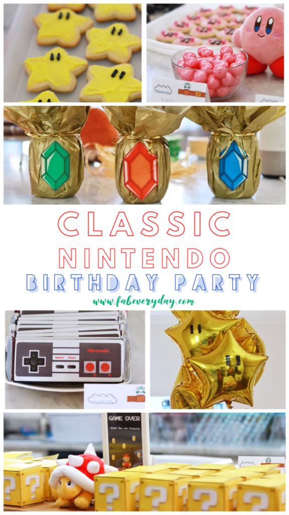 Photo of Klassische Nintendo-Geburtstagsfeier (Mario Bros., Zelda, Kirby und mehr Party-Spaß mit Nintendo-Motiven!)