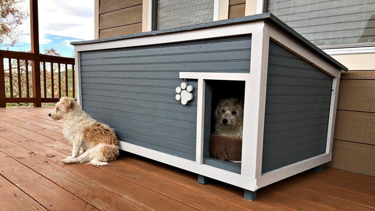 Diy Insulated Dog House Build Youtube Dog House Plans Insulated Dog House Dog House Diy