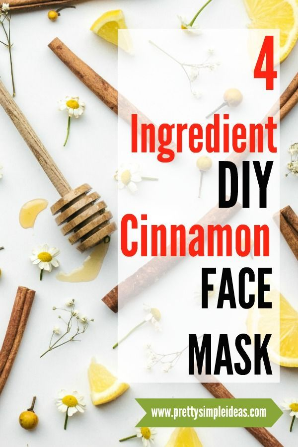 4-Ingredient DIY Cinnamon Face Mask #homemadefacelotion