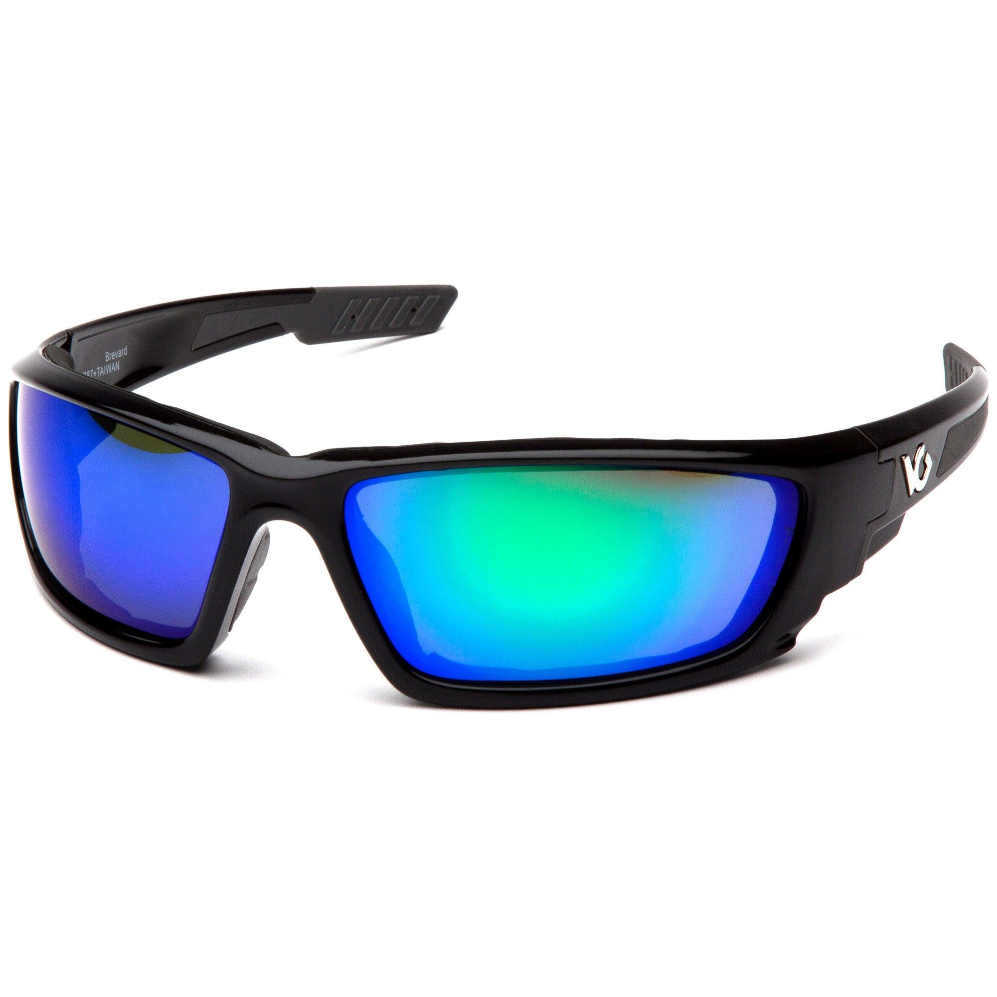 2442bf519b09 Venture Gear Brevard Eyewear - Black Foam Lined Frame - Green Mirror  Anti-Fog Lens