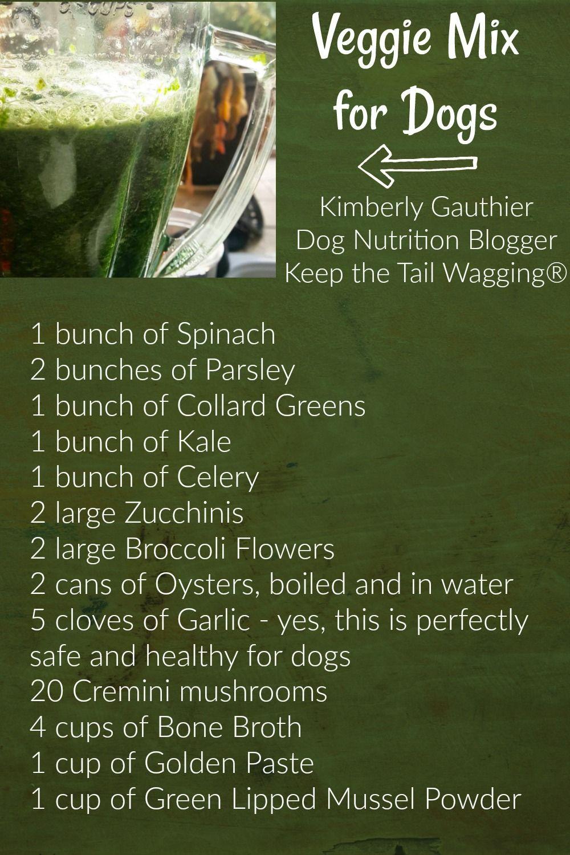 Top 10 Best Vegetables For My Dog Dog Vegetables Make Dog Food