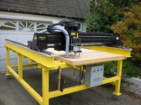 A Typical Cnc Router Tables Will Have Relatively Limited Z Travels Vacuum Table Electronics Kit And Stepper Motors Were From Hobbycnc Other