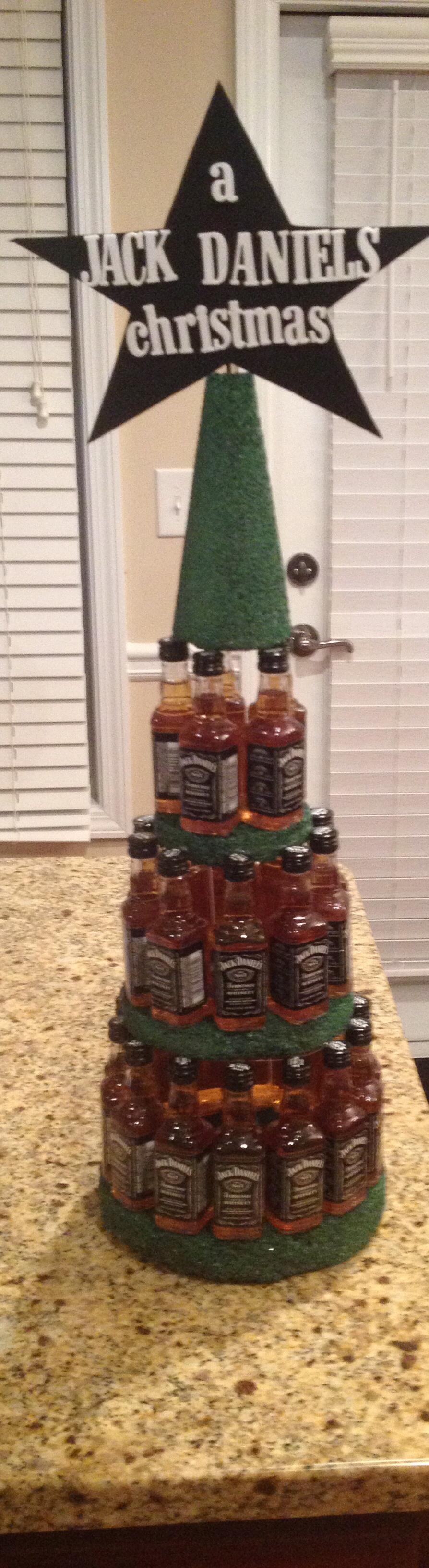 Jack Daniels Christmas tree   Crafty   Pinterest   Jack daniels ...