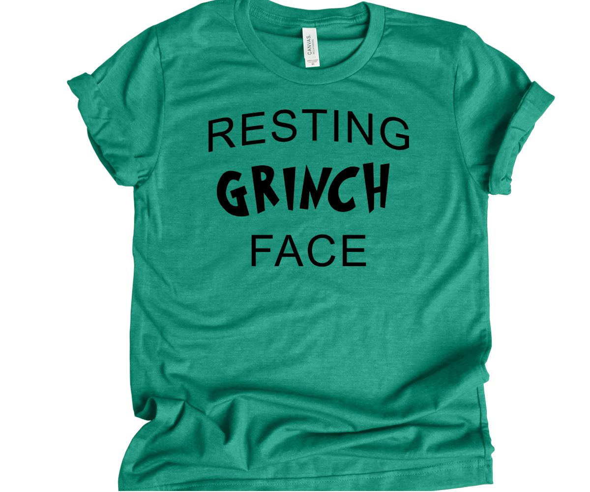 1fb6f3a517a92 Resting Grinch Face Funny Christmas T Shirt Unisex Christmas Shirt - Fat  Duck Tees