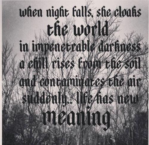 when night falls she cloaks the world