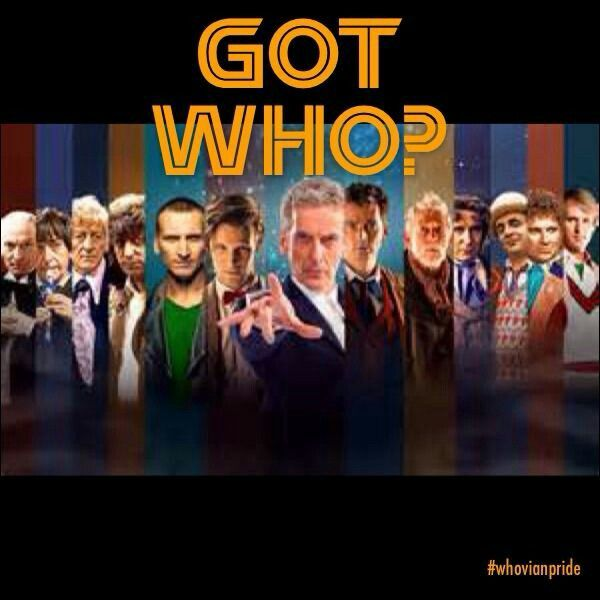 I love this, all twelve Doctors from the beginning.