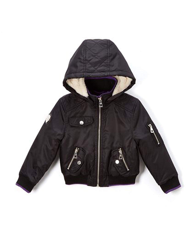 Girls Poly Twill Jacket With Hood Black Ck186k62k2x Twill Jacket Hooded Jacket Girls Jacket [ 1500 x 1248 Pixel ]