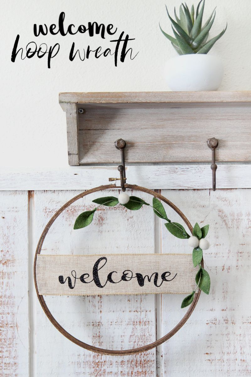 Photo of Welcome Banner Embroidery Hoop Wreath – Consumer Crafts
