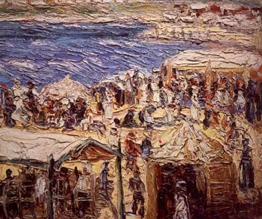 Playa de Mar del Plata. Obra de Quinquela Martín