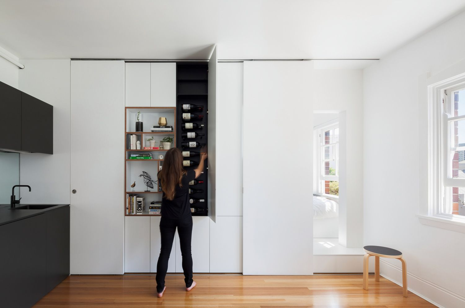 Architect Brad Swartz Designed A Tiny Minimalist Apartment In