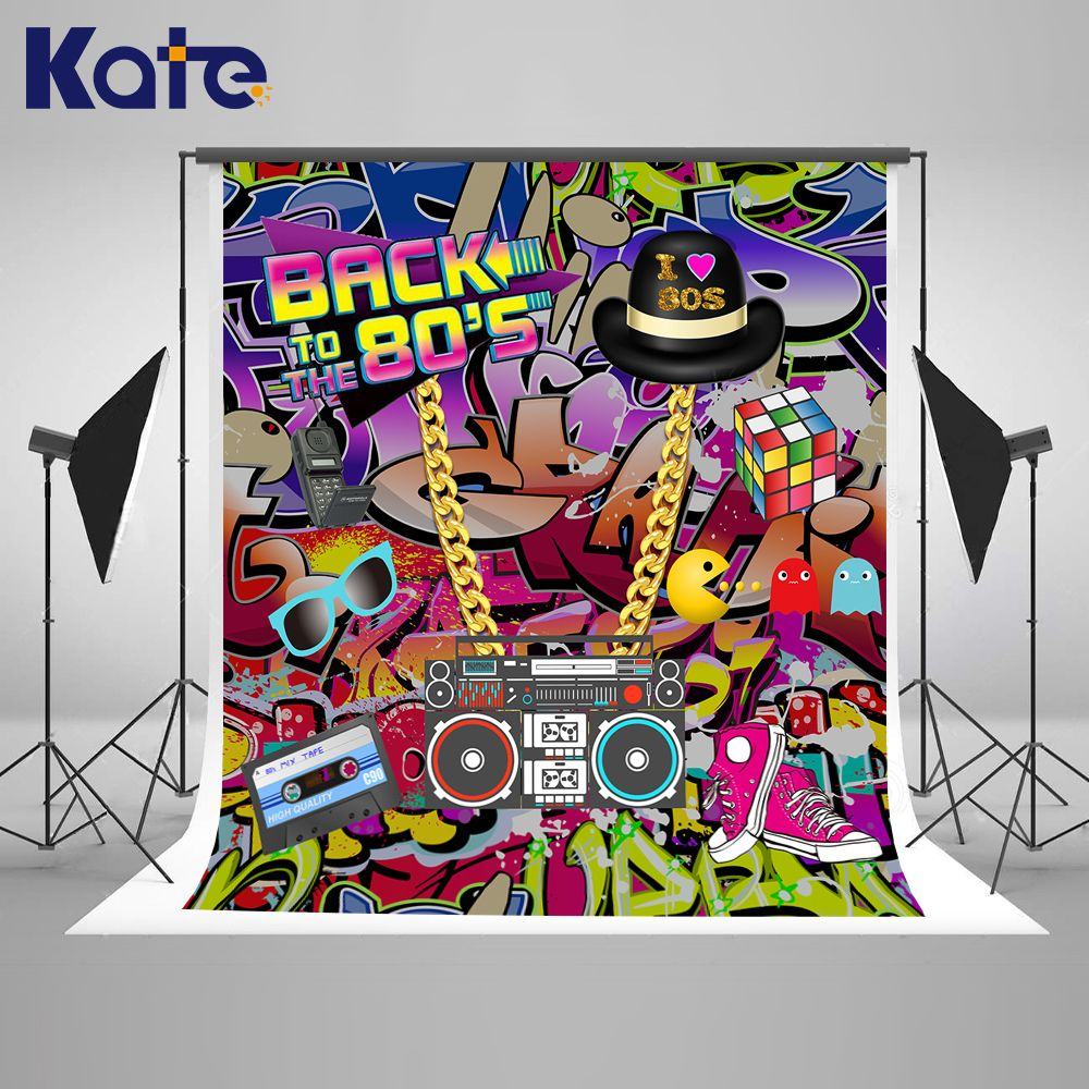 Find more background information about kate graffiti wall birthday photo background 10ft back to 80s hip pop background for photos custom photoshoot