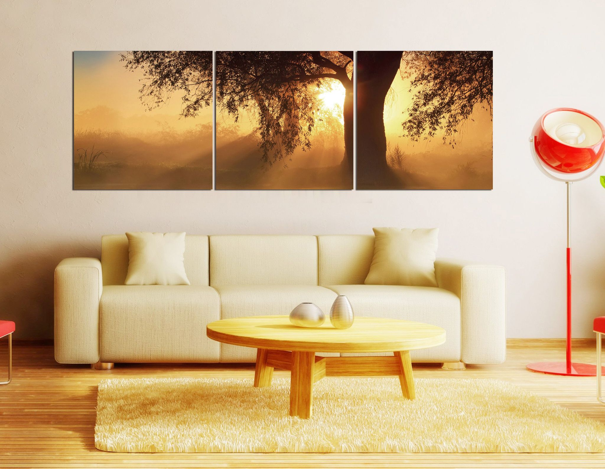 Sunset Over The Ocean Vertical Triptych Pictures http ...