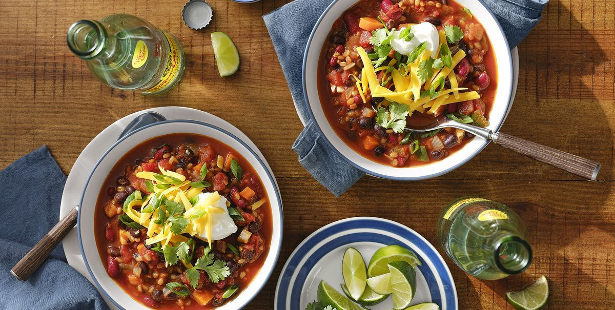 Vegetarian Chili with Grains and Beans Is Your Next