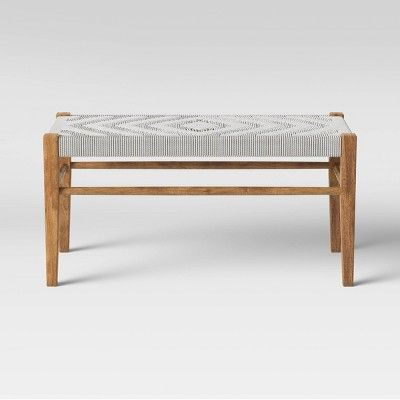 Lumarco Woven Bench Natural Opalhouse In 2020 Living Room Bench Small Entry Bench Tufted Storage Bench