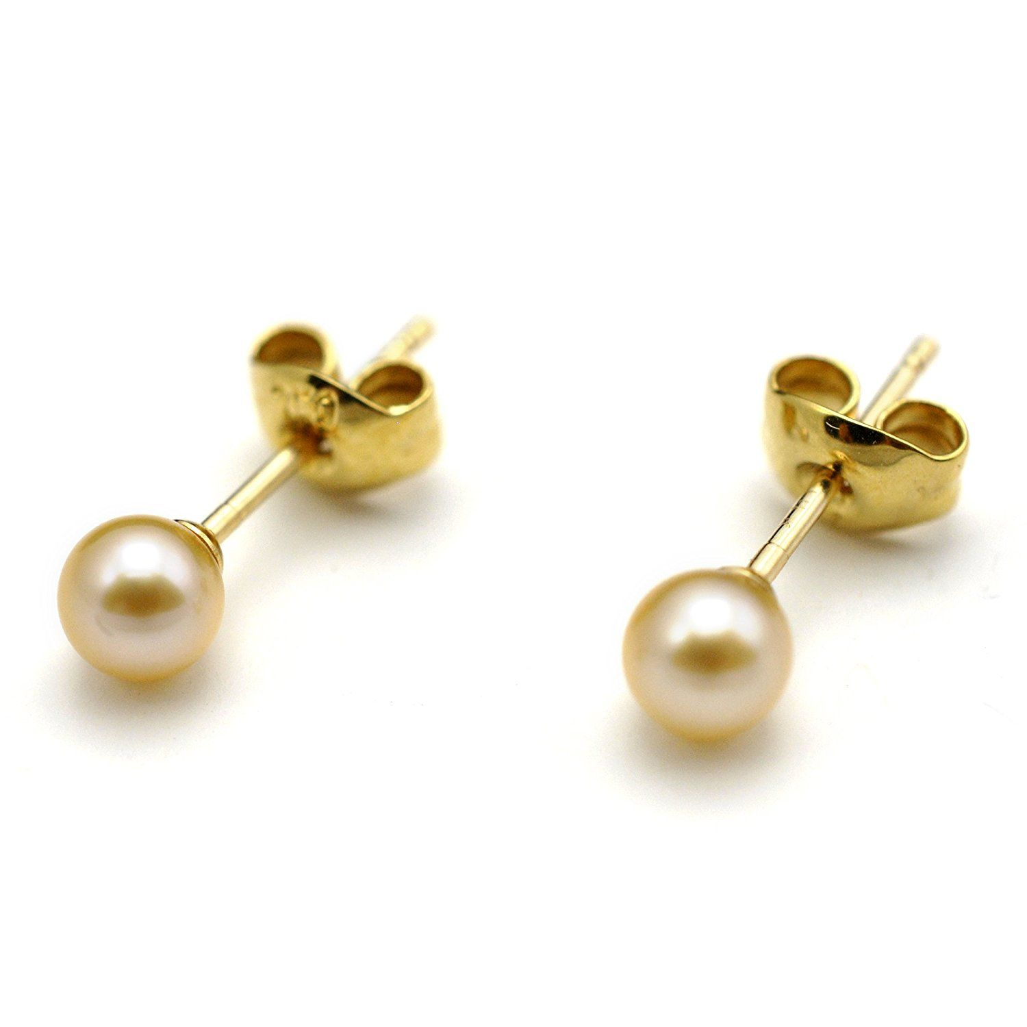 stud pearl earring earrings ball classic