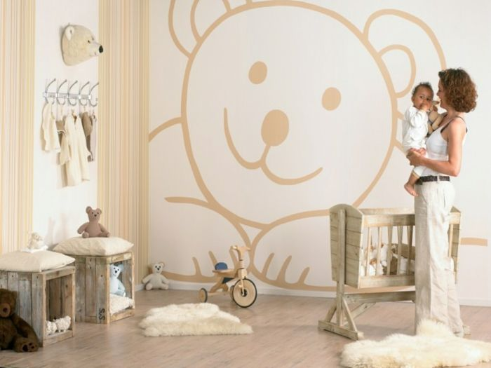 Babyzimmer gestalten - neutrale Farben passen für Mädchen und Jungen ...
