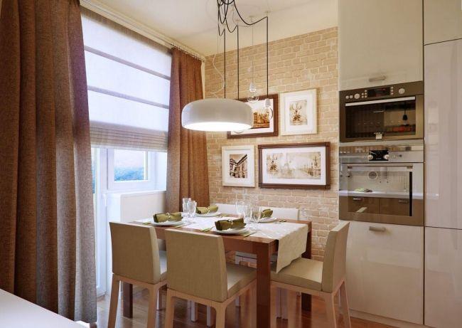 küche beige ideen für backstein wandgestaltung Kitchen - ideen wandgestaltung k che