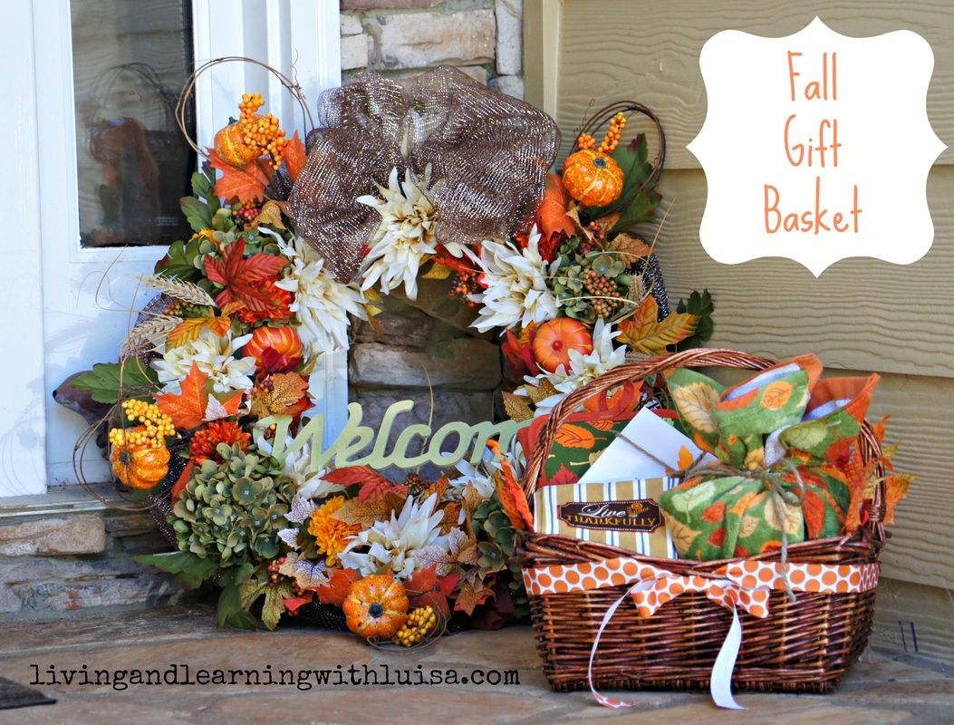 fall gift basket | fall love | pinterest | gift, basket ideas and