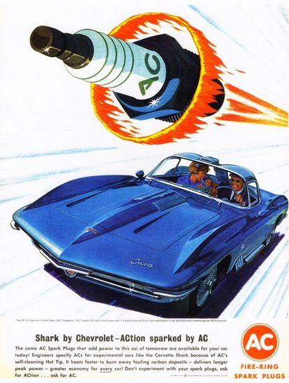 Ac Spark Plugs Chevrolet Xp 755 Corvette 1962 Vintage