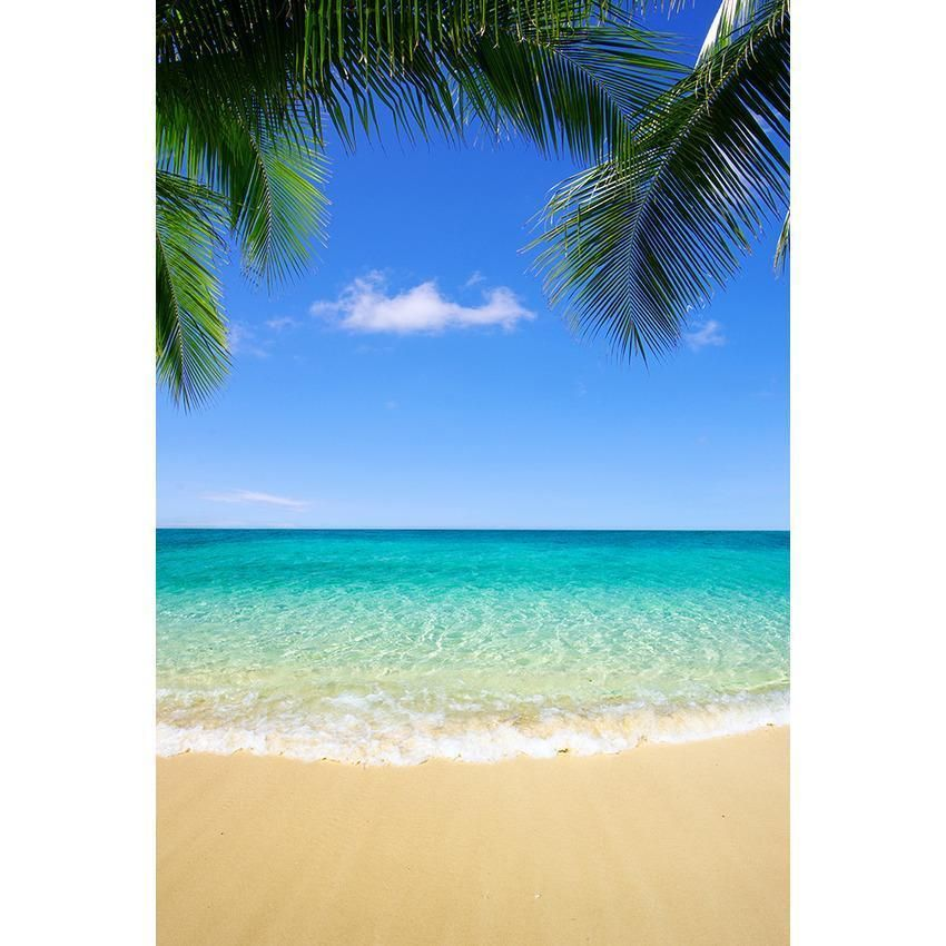 Blue Sea And Sand Beach Backdrop For Summer Seaside Scenery