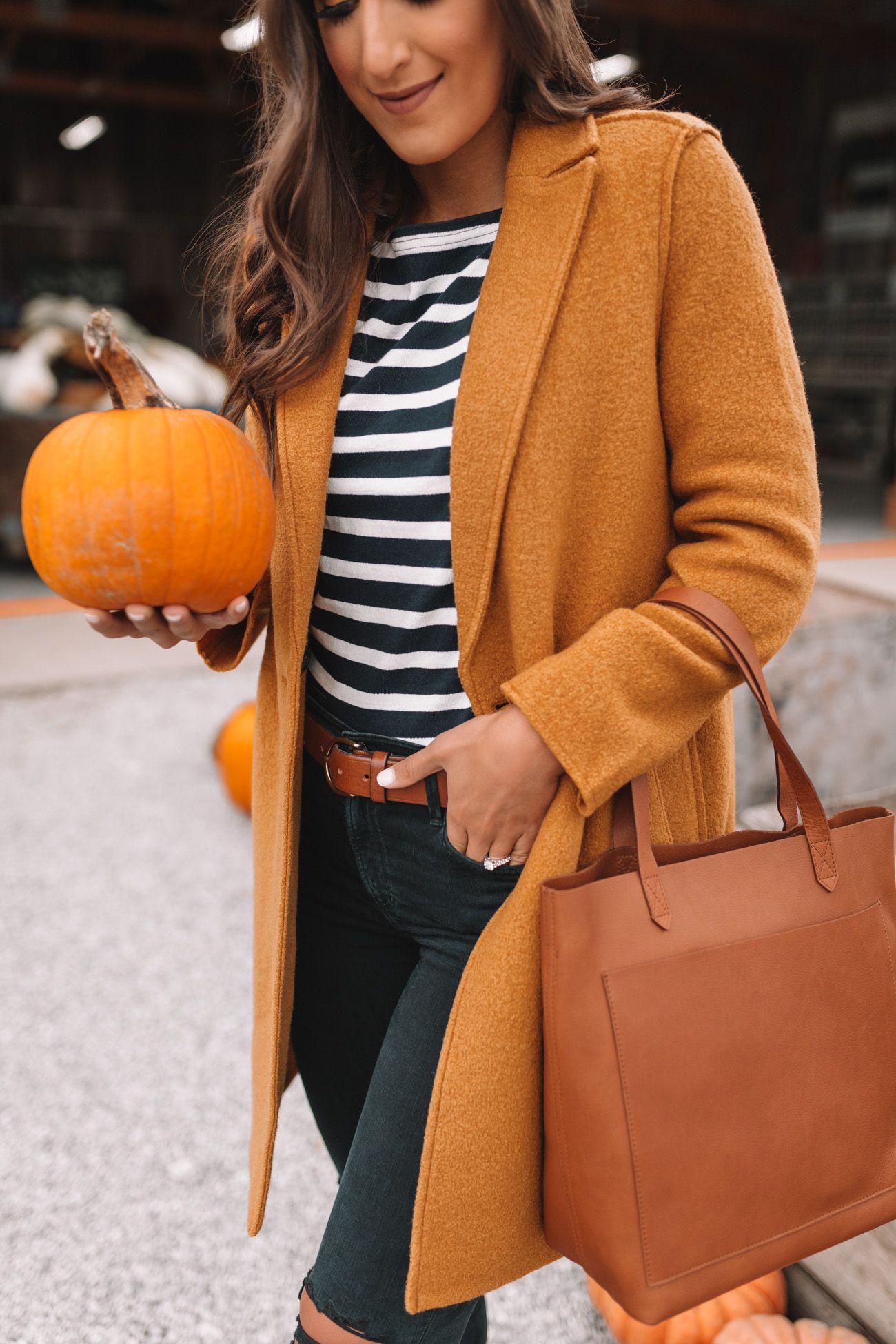Camel Fall Coat #pumpkinpatchoutfitwomen
