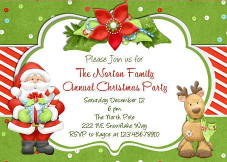 Children S Christmas Party Invitation Templates Free Christmas Party Invitation Template Free Christmas Invitation Templates Christmas Party Invitations Free