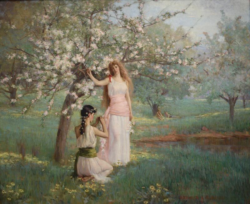 ARTHUR LOUREIRO - Primavera Óleo sobre tela - 1891