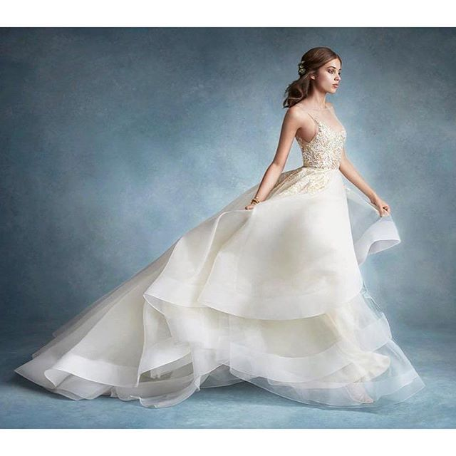 Dori Alabaster Tulle Bridal Gown With Halter High Neck Alabaster