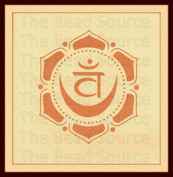 Sacral Chakra Stencil, Yoga Stencil, Chakra Symbol Stencil, Mylar ...