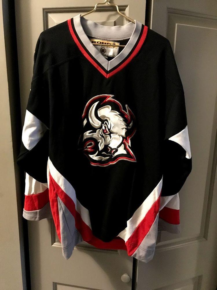 Rare Vintage Koho NHL Buffalo Sabres Black Hockey Jersey Mens L Sewn FREE  SHIP! please retweet fd296a6b5