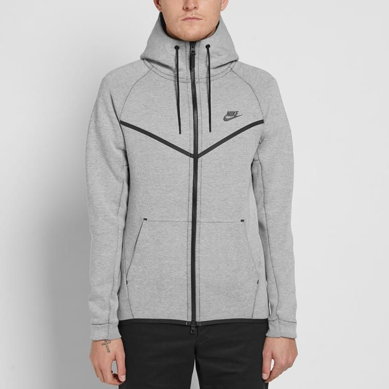 f27377b2188b Nike Tech Fleece Windrunner (Light Bone Heather   Black)