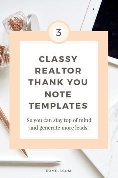 thank you letter examples for real estate marketing pinterest