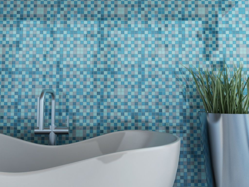 Mosaic tiles can be used anywhere you want to add visual interest ...