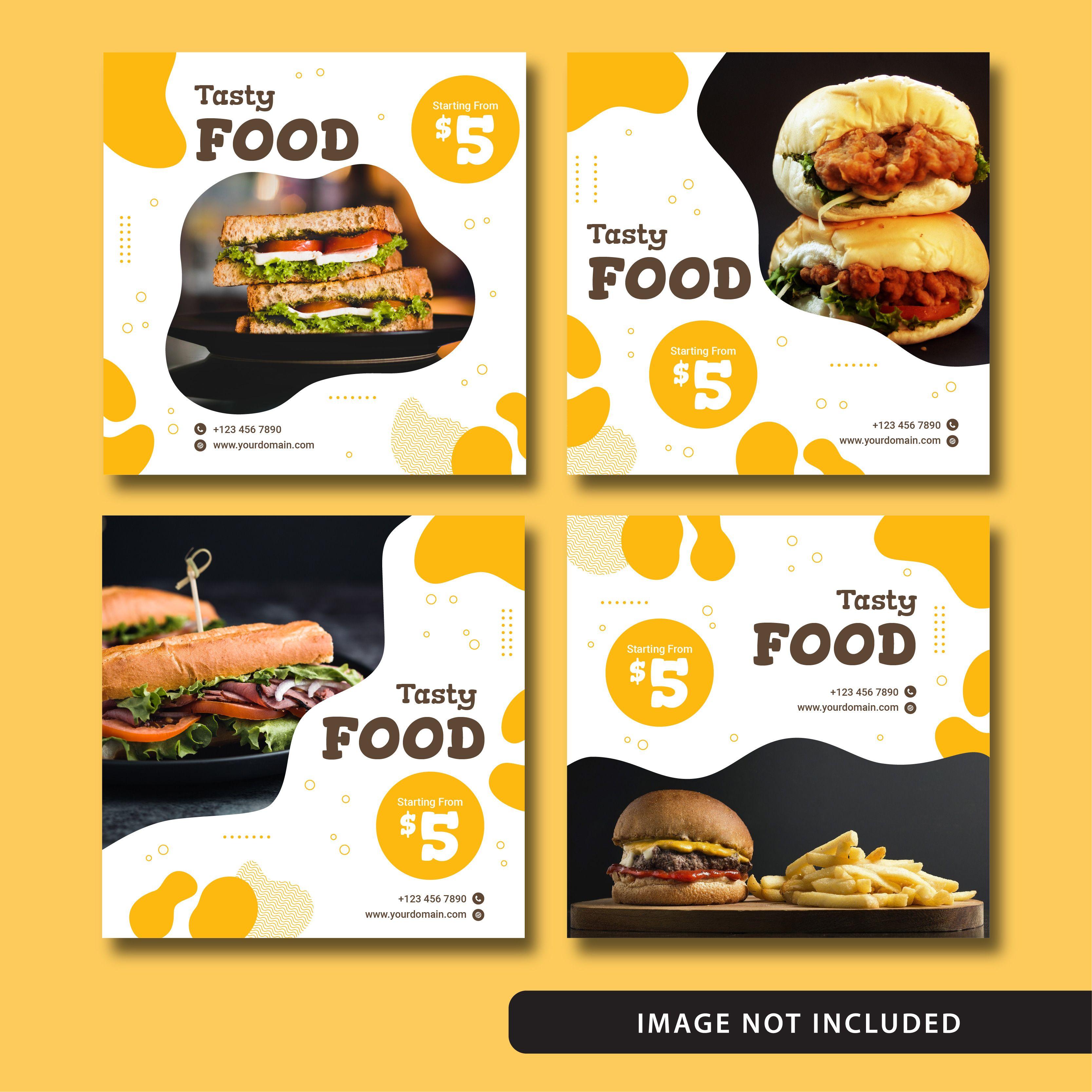 Elegant Food Social Media Post Liquid Style 100 free