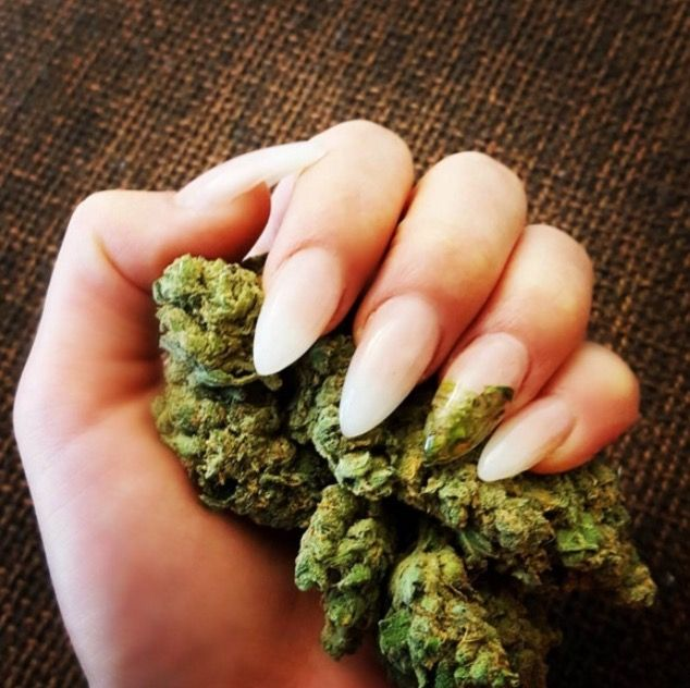 Marijuana #nail art can be classy | nails | Pinterest | Nail nail