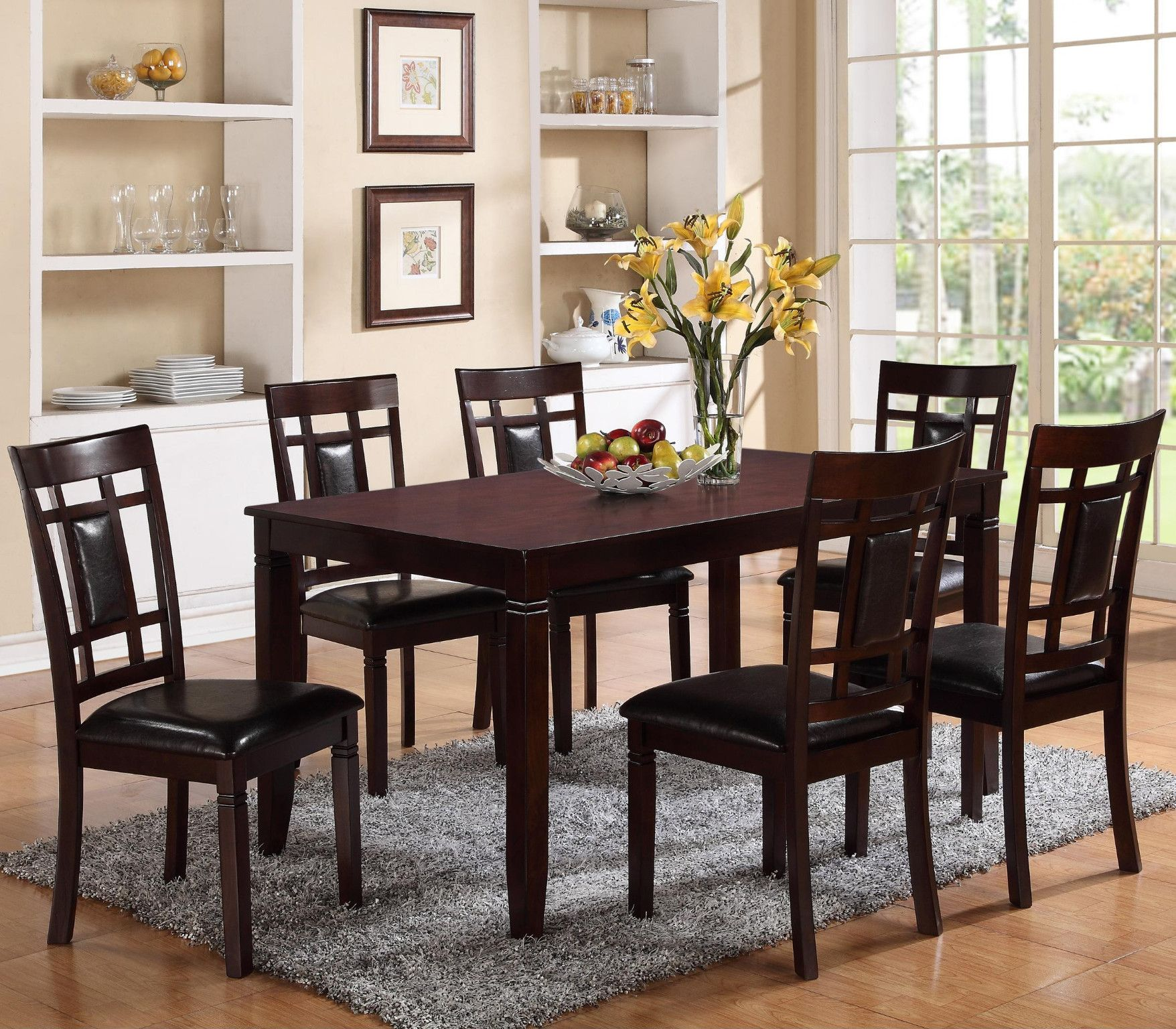 Paige 7 Piece Dinette Table And 6 Chairs 599 00 Table 36 X 60 X