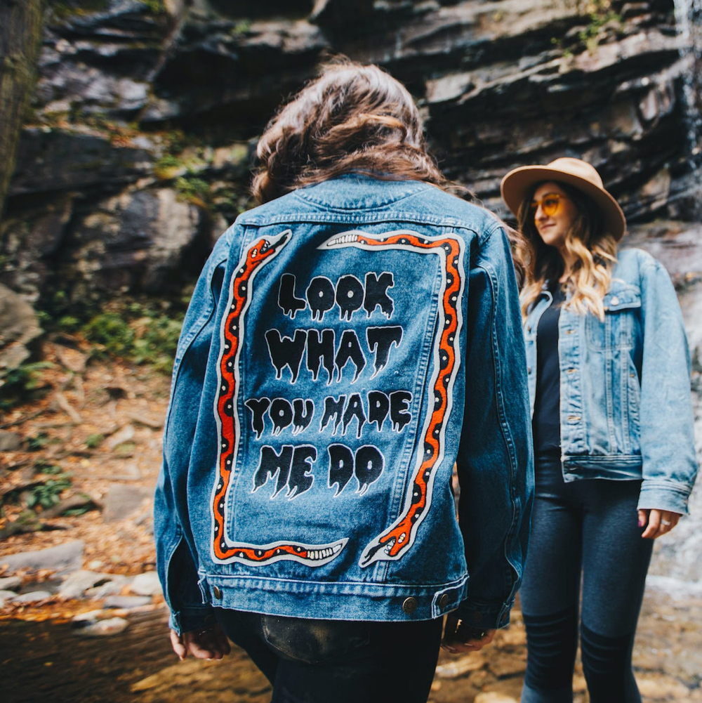 The Reputation Jacket Taylor Swift Taylor Swift Merch Etsy Taylor Swift Outfits Denim Jacket Embroidery Jackets [ 1001 x 1000 Pixel ]