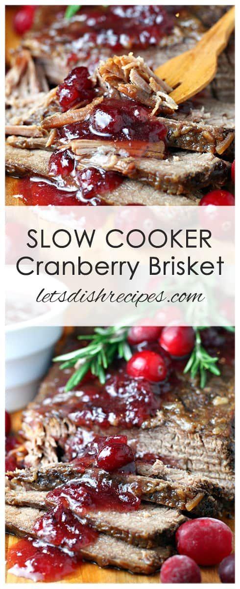 Slow Cooker Cranberry Brisket   Let's Dish Recipes