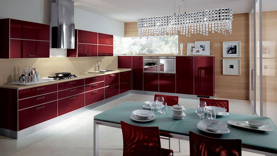 30 Modelli di Cucine Rosse dal Design Moderno | Cucina, Modern ...