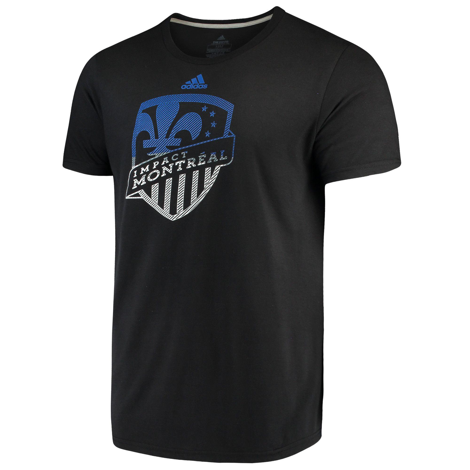 4a5daca46ef MLS Men s adidas Black Montreal Impact Redirection Logo T-Shirt ...