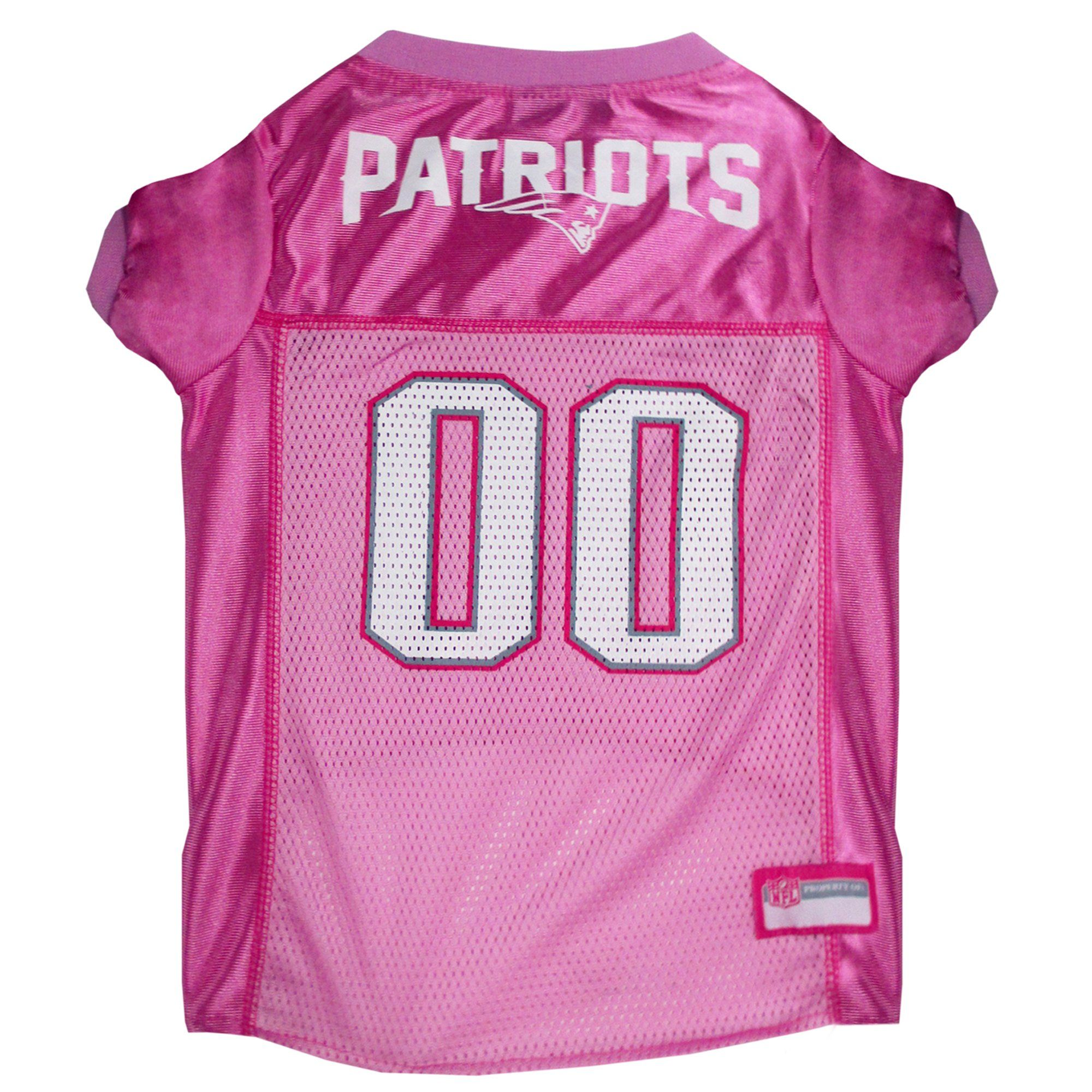 Pets First New England Patriots NFL Pink Mesh Jersey, X