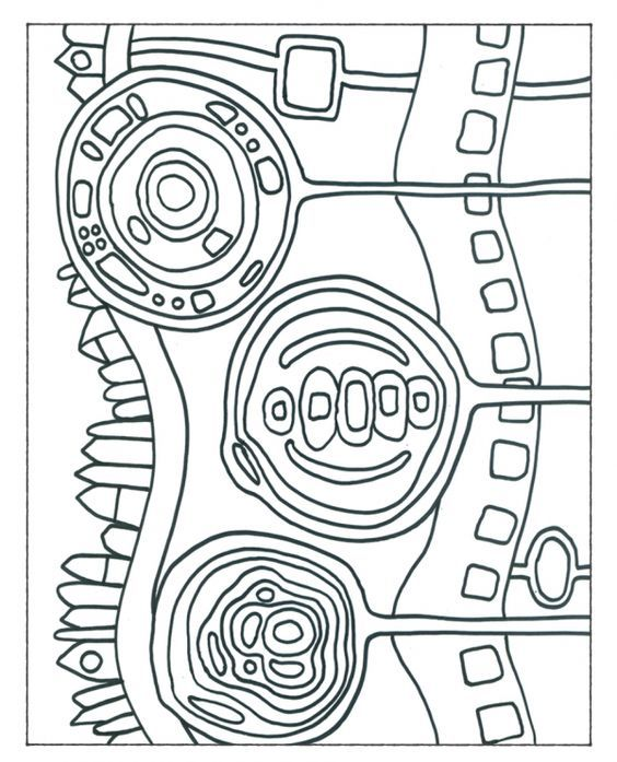 Hundertwasser Malvorlagen | Ideeen | Pinterest | Craft, Journaling ...
