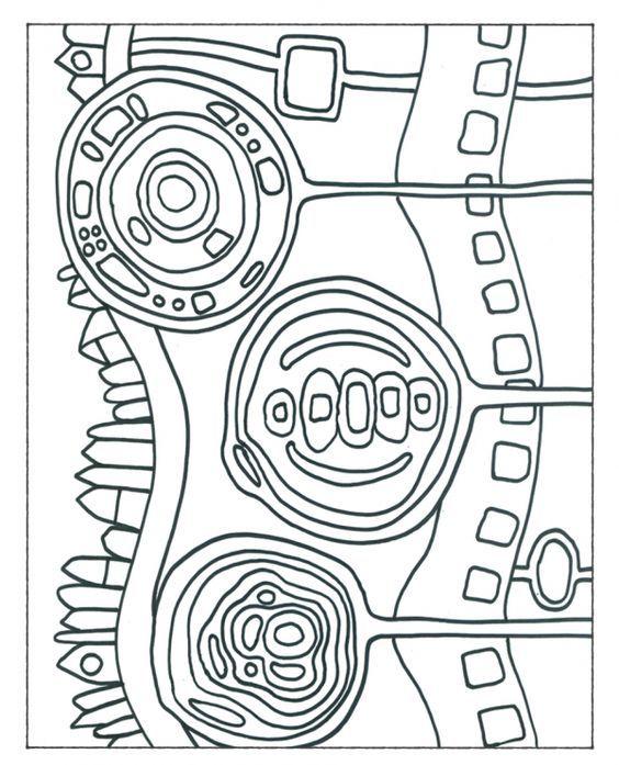 Hundertwasser Malvorlagen   Art handouts, Art worksheets ...