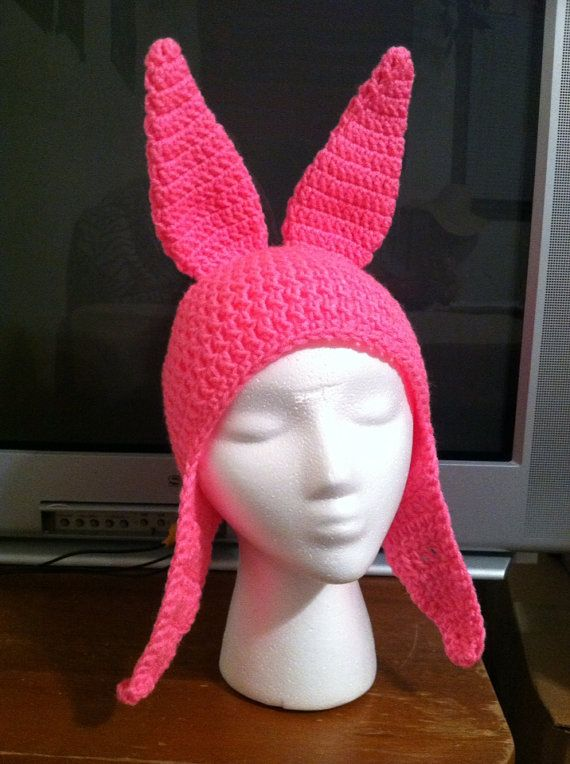 MADE TO ORDER - Pink Bunny Hat - adult size - stand up ears - ships ...